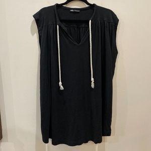 Zara v-neck t-shirt shift dress